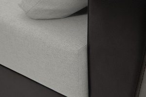 Прямой диван еврокнижка Амстердам эконом Dream Light Grey Текстура ткани
