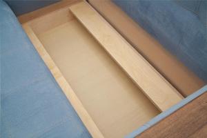 Прямой диван Этро люкс Amigo Blue Ящик для белья