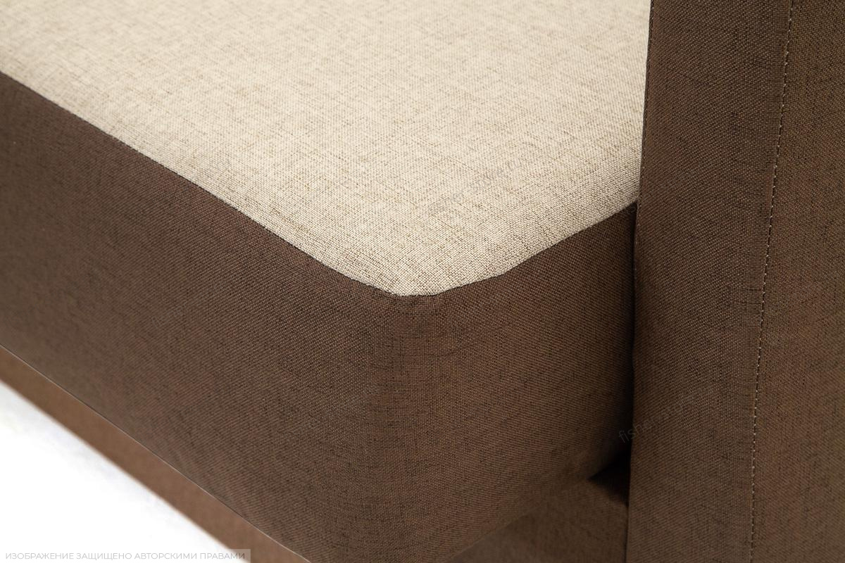 Прямой диван Берри Эко  Dream Beight + Dream Brown Текстура ткани