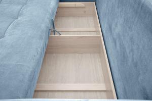Прямой диван Кайман Amigo Blue Ящик для белья