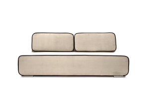 Прямой диван еврокнижка Лаки Amigo Bone Вид спереди