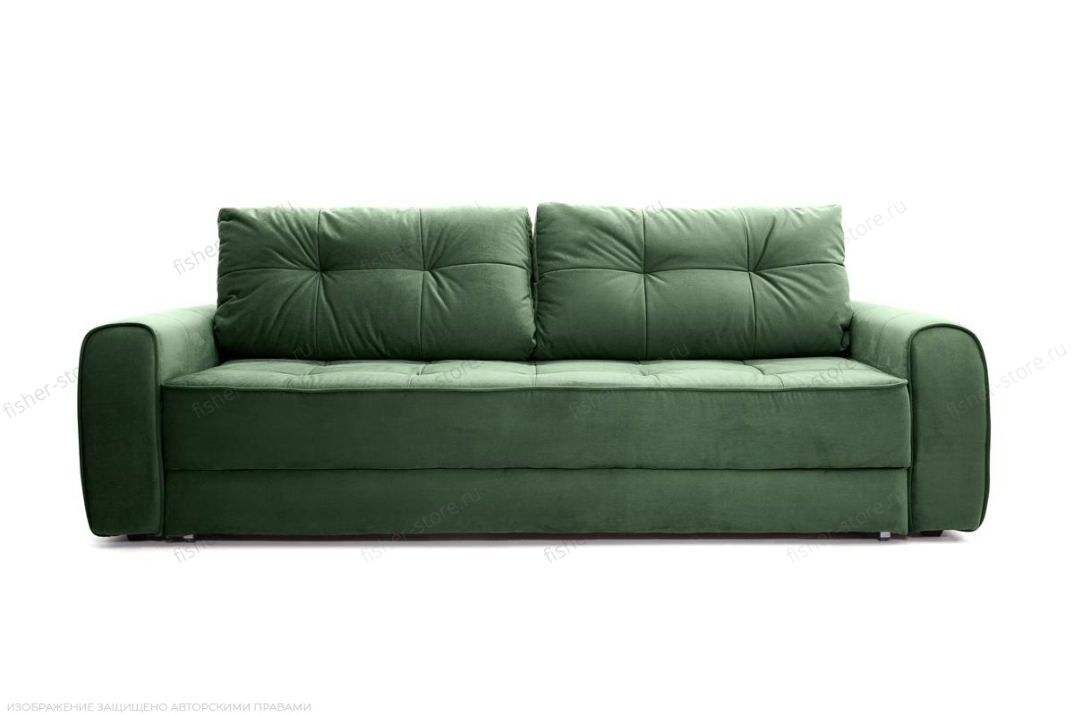 Прямой диван Кайман Amigo Green Вид спереди