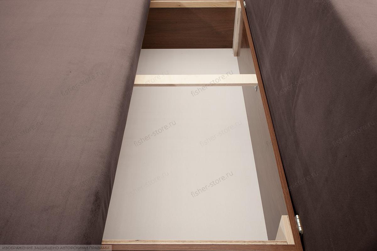 Прямой диван Лаки Amigo Chocolate Ящик для белья