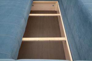 Прямой диван Мадлен Amigo Blue Ящик для белья