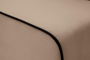 Прямой диван Лаки Amigo Latte Текстура ткани