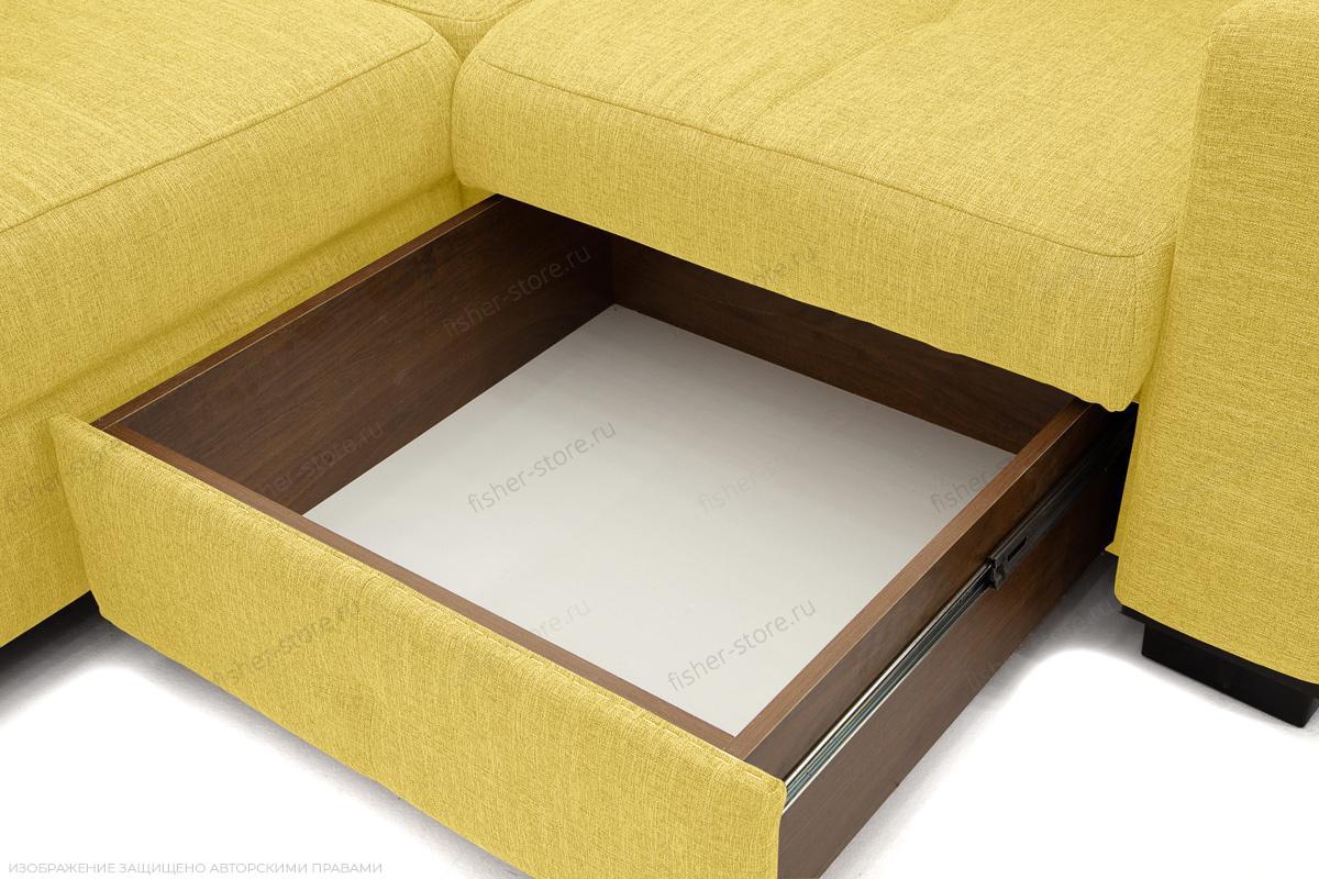 Двуспальный диван Меркурий-2 Orion Mustard Ящик для белья