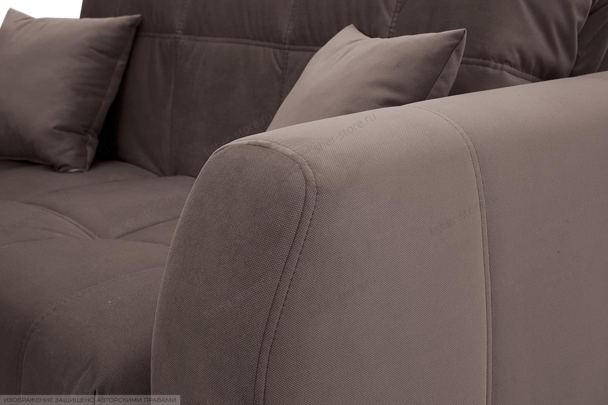 Прямой диван Ява-3 Amigo Chocolate Подлокотник