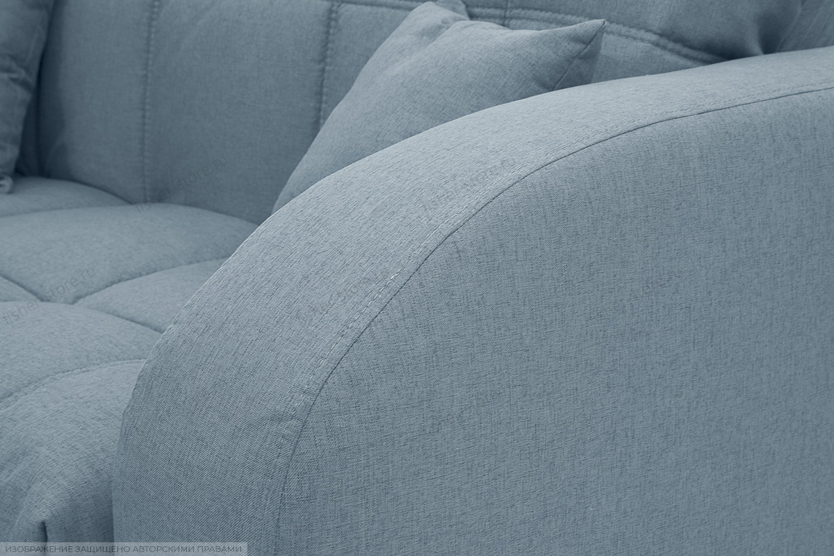 Прямой диван Ява-2 Dream Blue Подлокотник