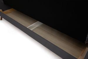 Прямой диван Милано Amigo Grafit Ящик для белья