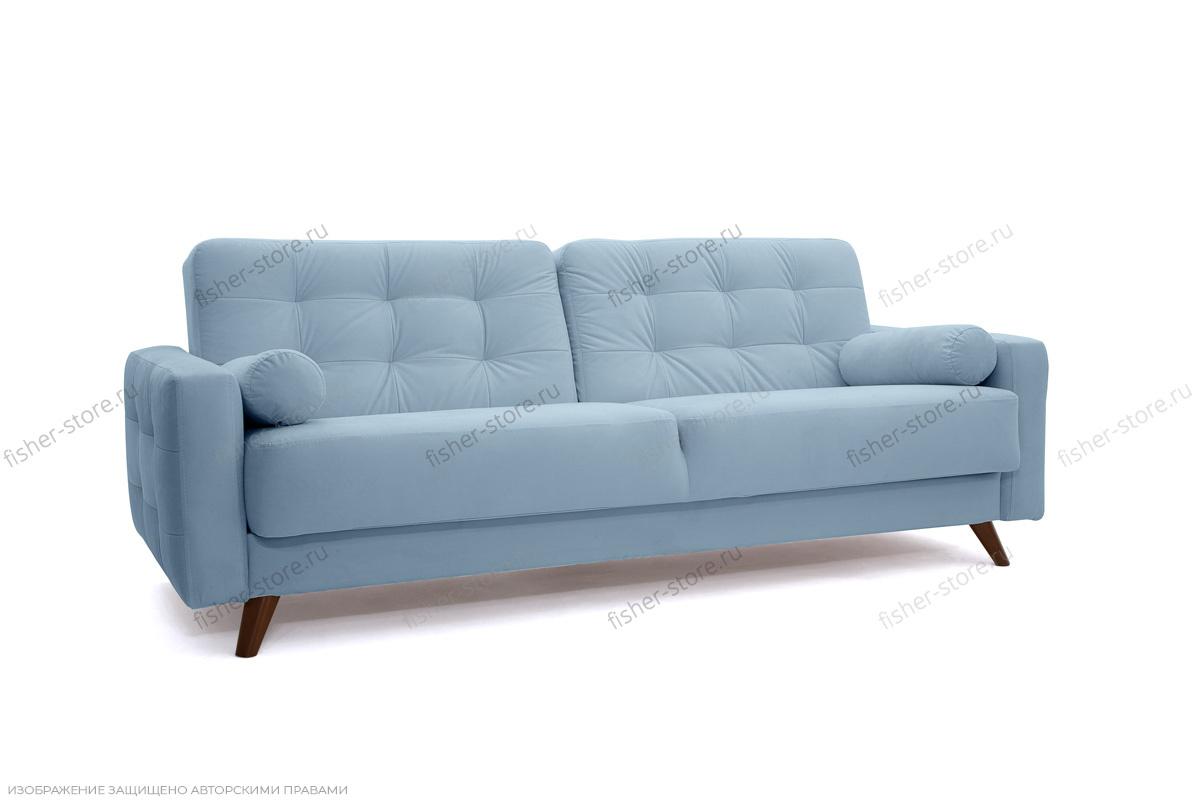 Прямой диван Милано Amigo Blue Вид по диагонали