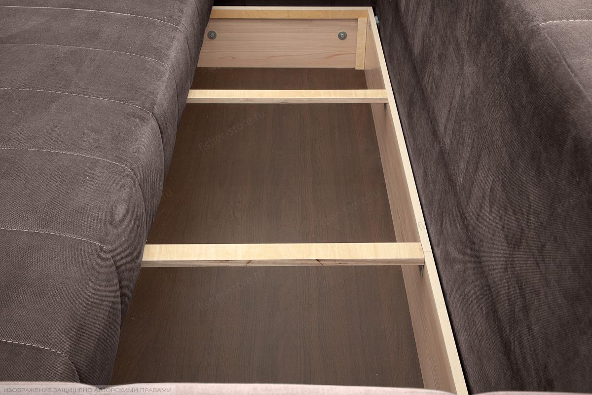 Прямой диван Мадлен Amigo Chocolate Ящик для белья