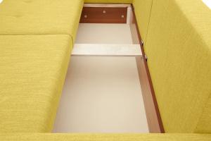 Прямой диван Комфорт Orion Mustard Ящик для белья