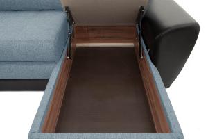 Угловой диван Император-2 Dream Blue Ящик для белья