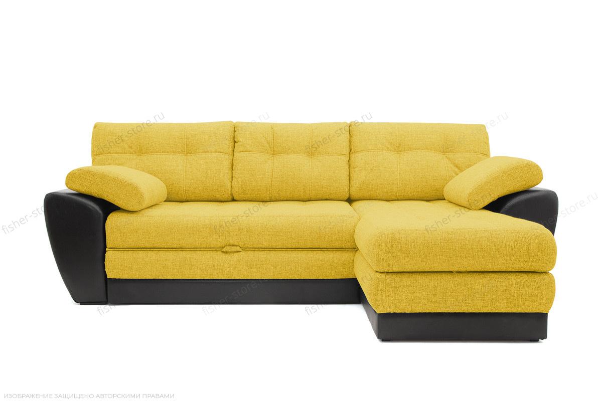 Угловой диван Император-2 Dream Yellow Вид спереди