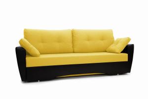 Прямой диван Амстердам эконом Dream Yellow Вид по диагонали