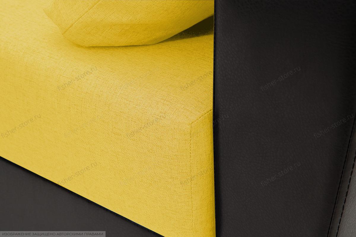 Прямой диван Амстердам эконом Dream Yellow Текстура ткани
