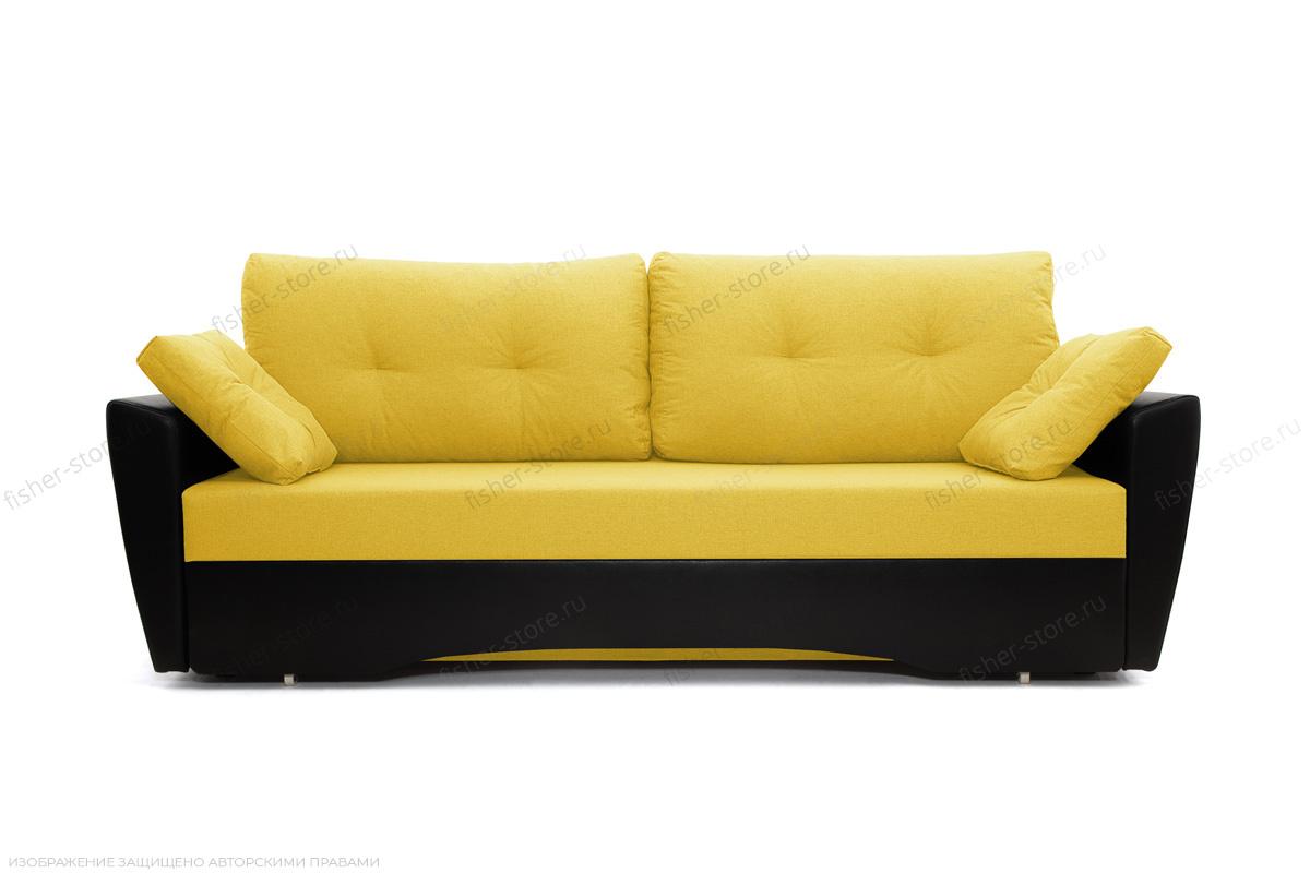 Прямой диван Амстердам эконом Dream Yellow Вид спереди
