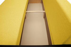 Прямой диван Амстердам эконом Dream Yellow Ящик для белья