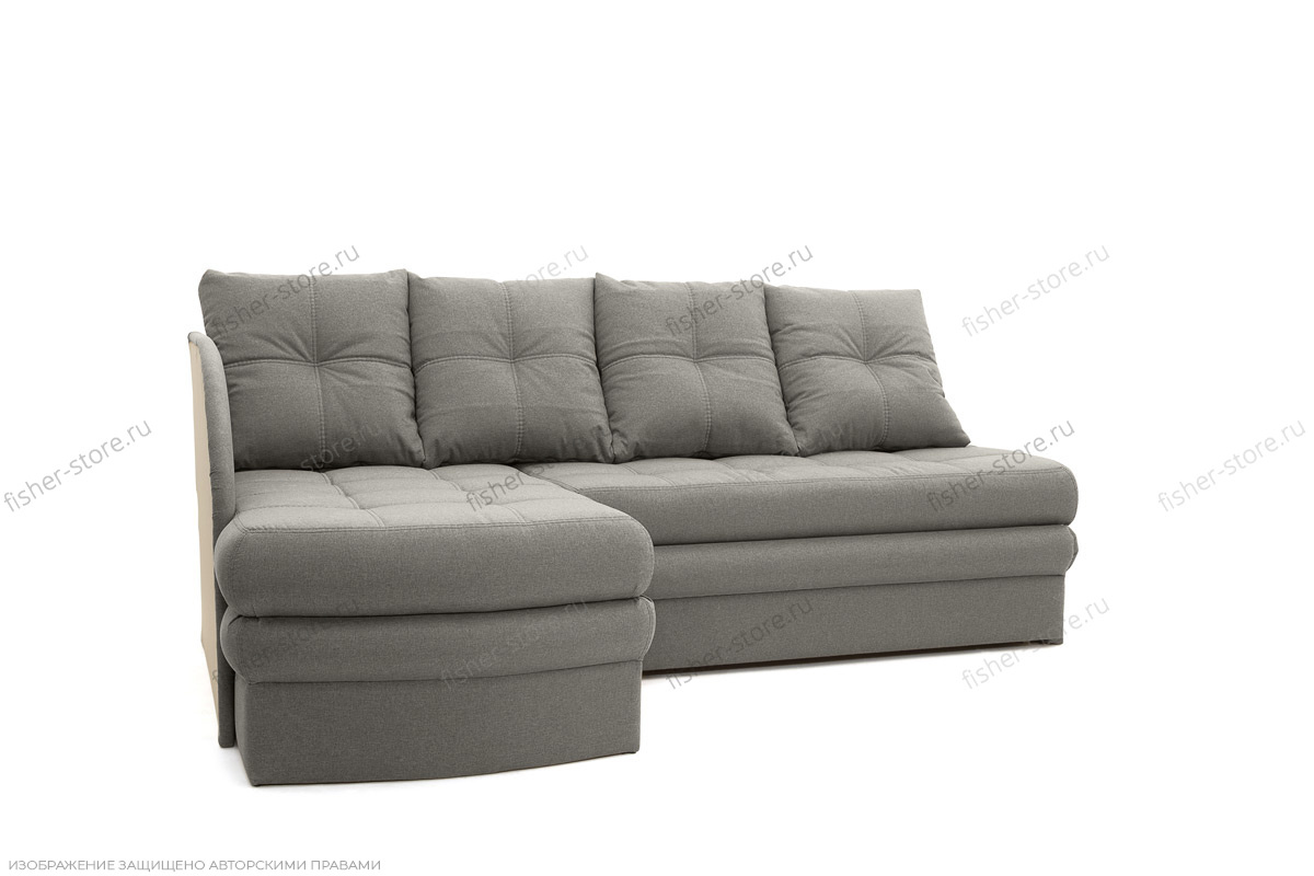 Угловой диван Мираж Dream Grey Вид по диагонали