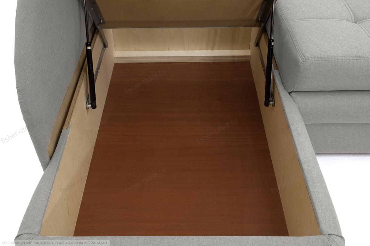 Угловой диван Мираж Dream Light Grey Ящик для белья
