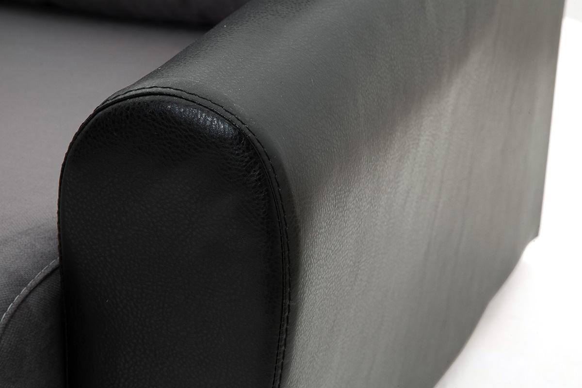 Прямой диван Джаз Amigo Grafit + Sontex Black Текстура ткани
