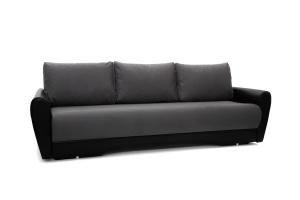 Прямой диван Джаз Amigo Grafit + Sontex Black Вид по диагонали