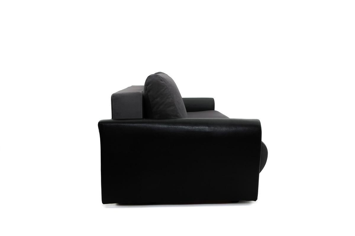 Прямой диван Джаз Amigo Grafit + Sontex Black Вид сбоку