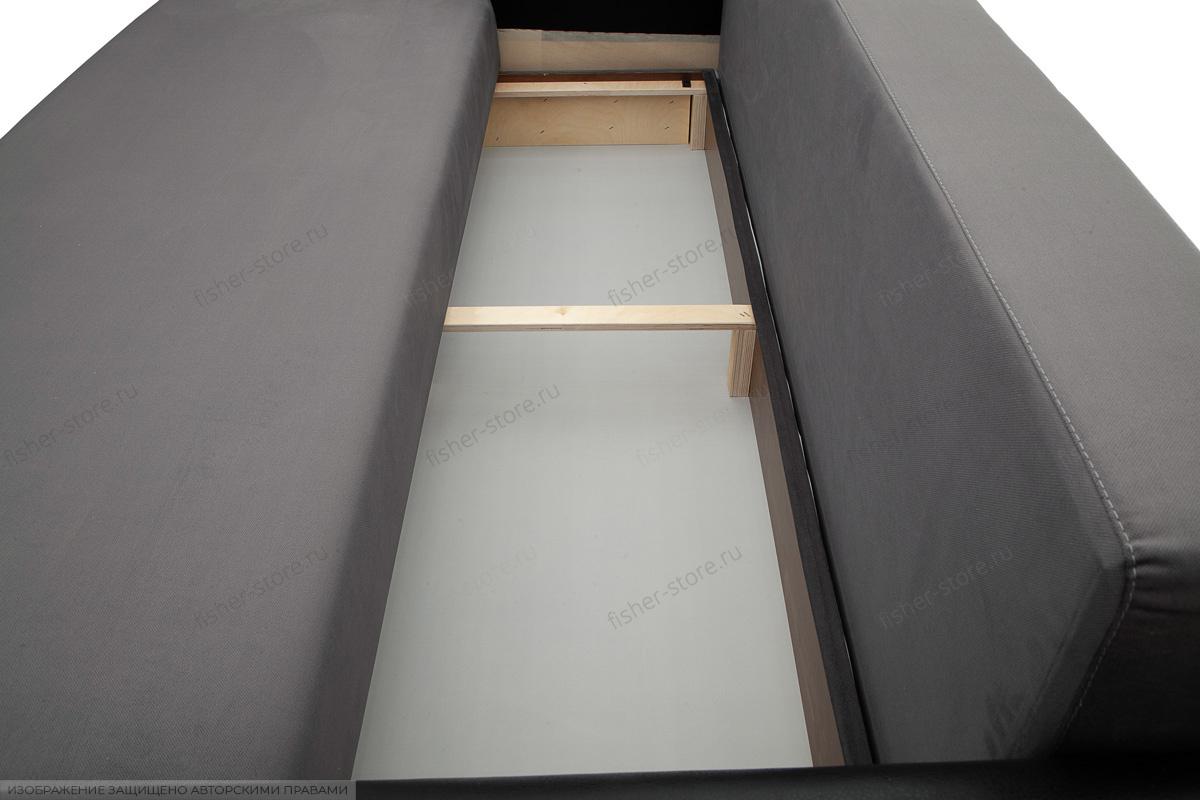 Прямой диван Джаз Amigo Grafit + Sontex Black Ящик для белья