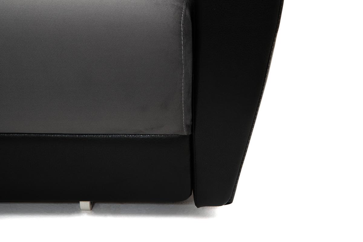 Прямой диван Джаз Amigo Grafit + Sontex Black Подушки