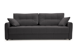 Прямой диван Мадрид люкс Amigo Grafit Вид спереди