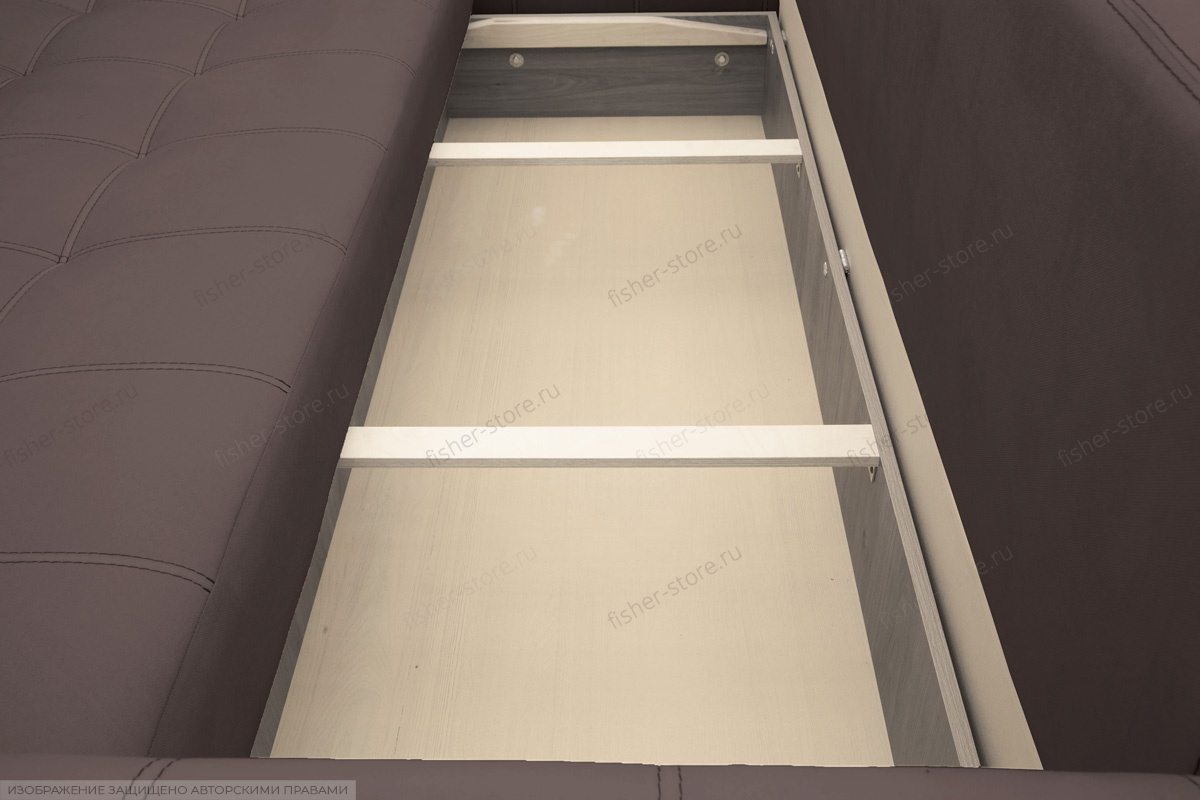 Двуспальный диван Мадрид люкс Amigo Chocolate Ящик для белья