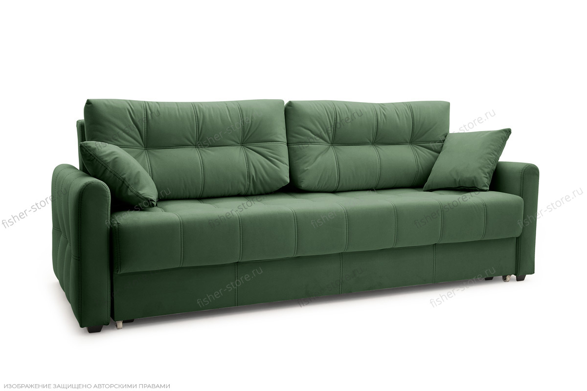 Прямой диван Мадрид люкс Amigo Green Вид по диагонали