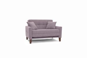 Прямой диван Этро люкс с опорой №3 Orion Lilac Вид по диагонали