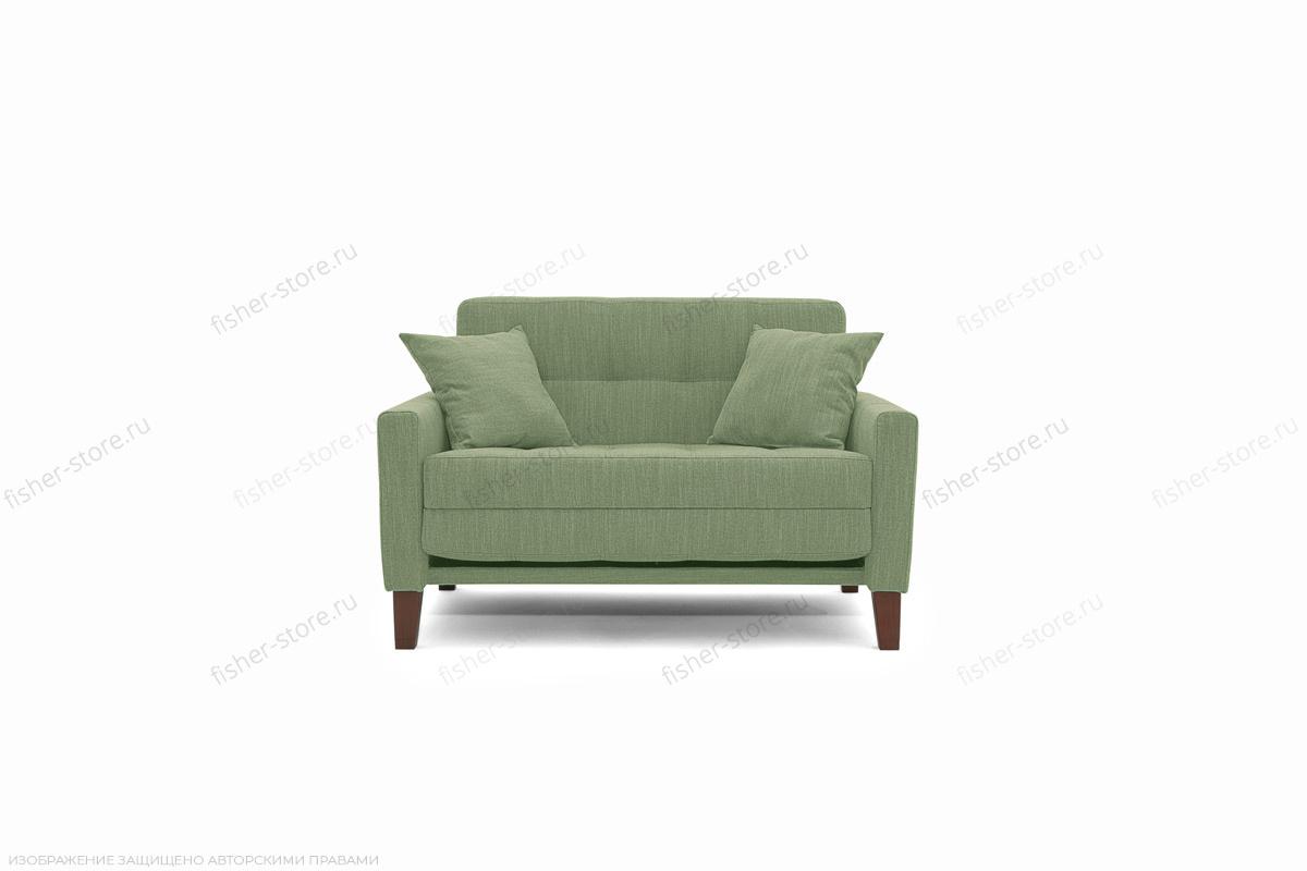 Прямой диван Этро люкс с опорой №3 Orion Green Вид спереди