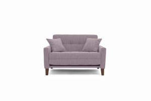 Прямой диван Этро люкс с опорой №3 Orion Lilac Вид спереди