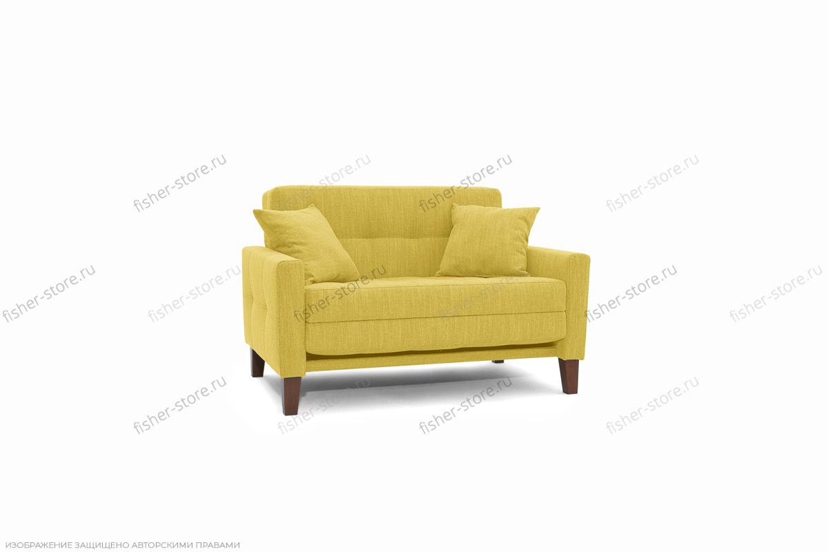 Прямой диван Этро люкс с опорой №3 Orion Mustard Вид по диагонали