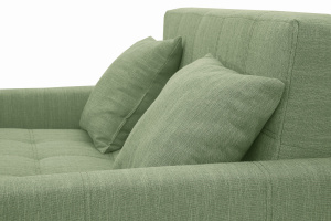 Прямой диван Этро люкс с опорой №3 Orion Green Подушки