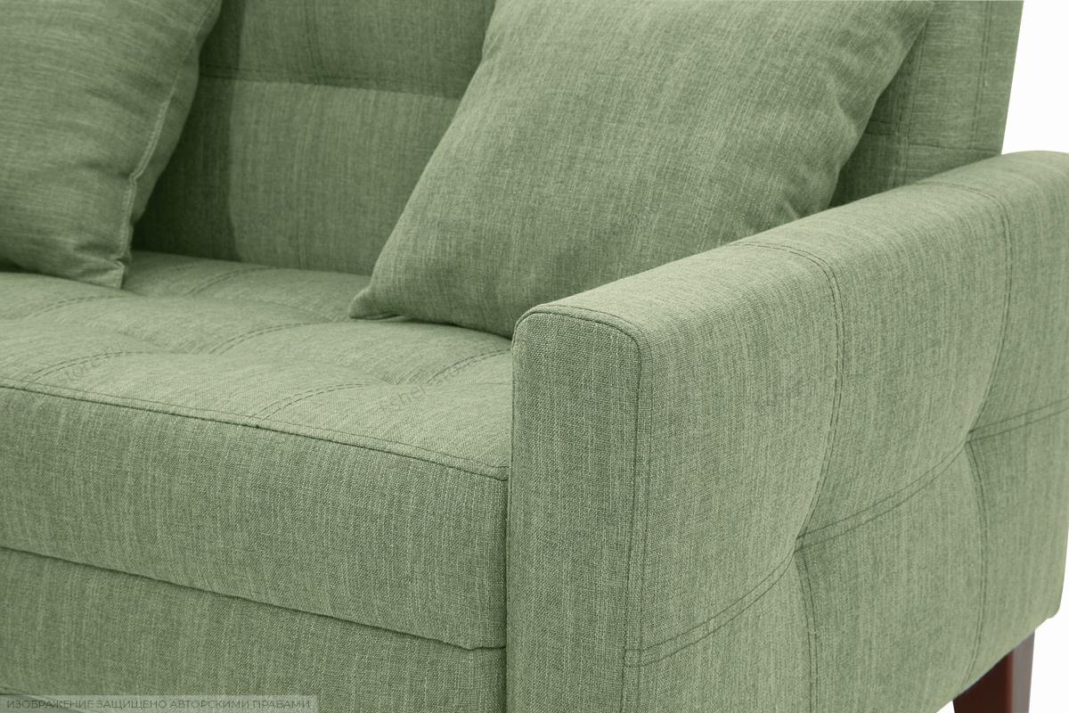 Прямой диван Этро люкс с опорой №3 Orion Green Текстура ткани