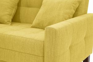 Прямой диван Этро люкс с опорой №3 Orion Mustard Текстура ткани