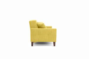 Прямой диван Этро люкс с опорой №3 Orion Mustard Вид сбоку