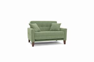 Прямой диван Этро люкс с опорой №3 Orion Green Вид по диагонали