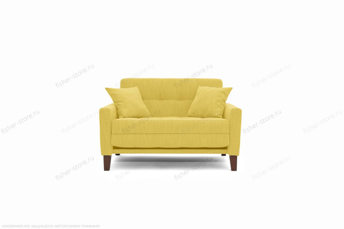 Прямой диван Этро люкс с опорой №3 Orion Mustard Вид спереди