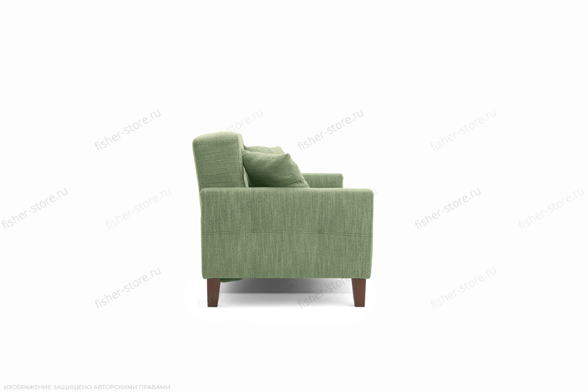 Прямой диван Этро люкс с опорой №3 Orion Green Вид сбоку