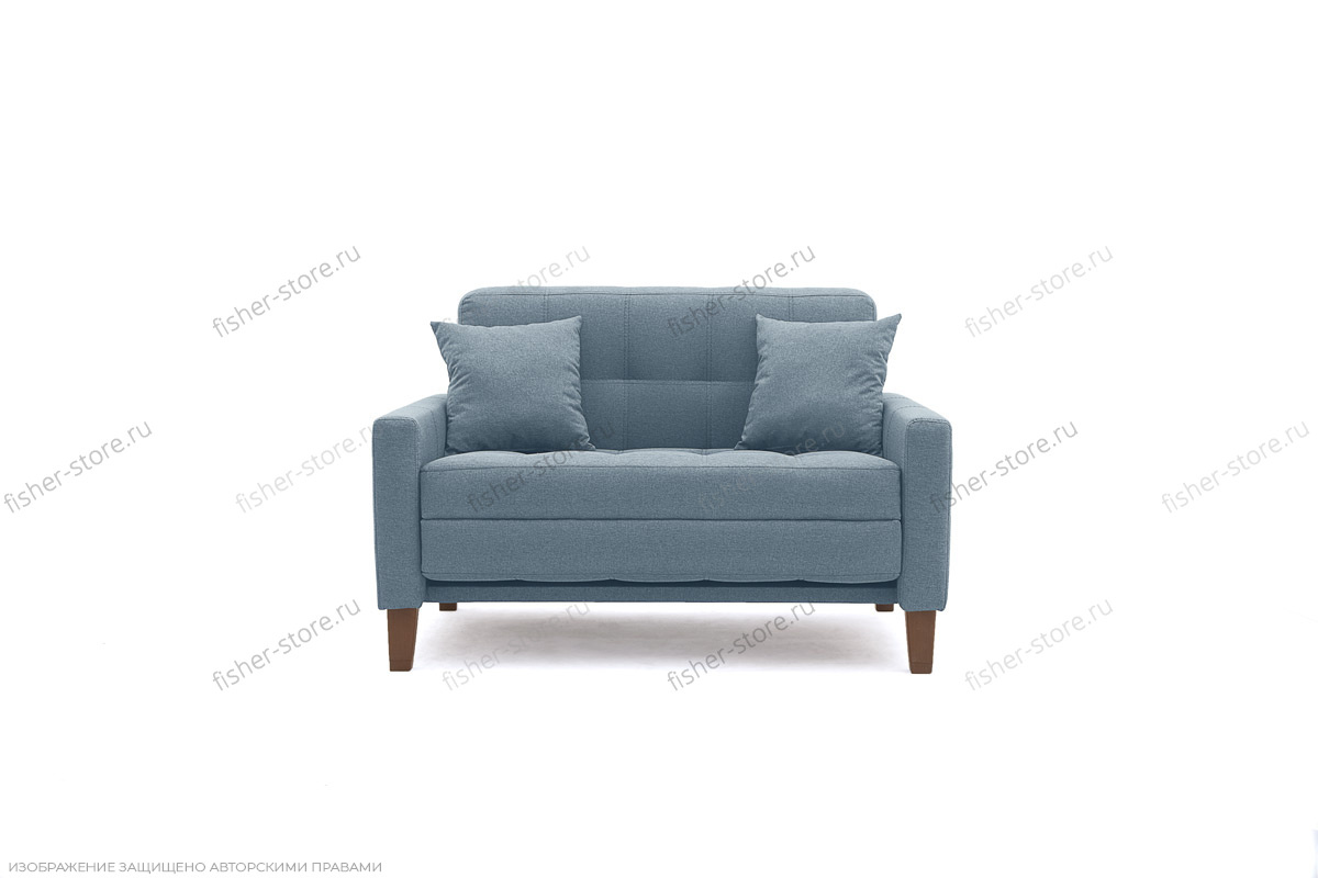 Прямой диван Этро люкс с опорой №3 Dream Blue Вид спереди