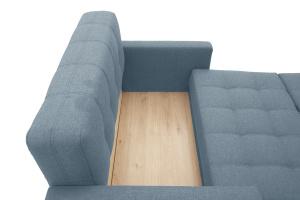 Прямой диван Этро люкс с опорой №3 Dream Blue Ящик для белья