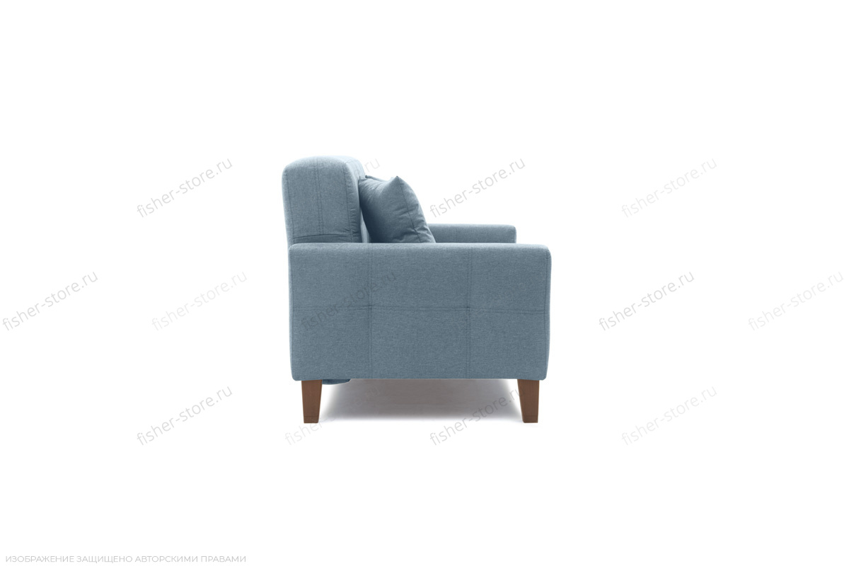 Прямой диван Этро люкс с опорой №3 Dream Blue Вид сбоку
