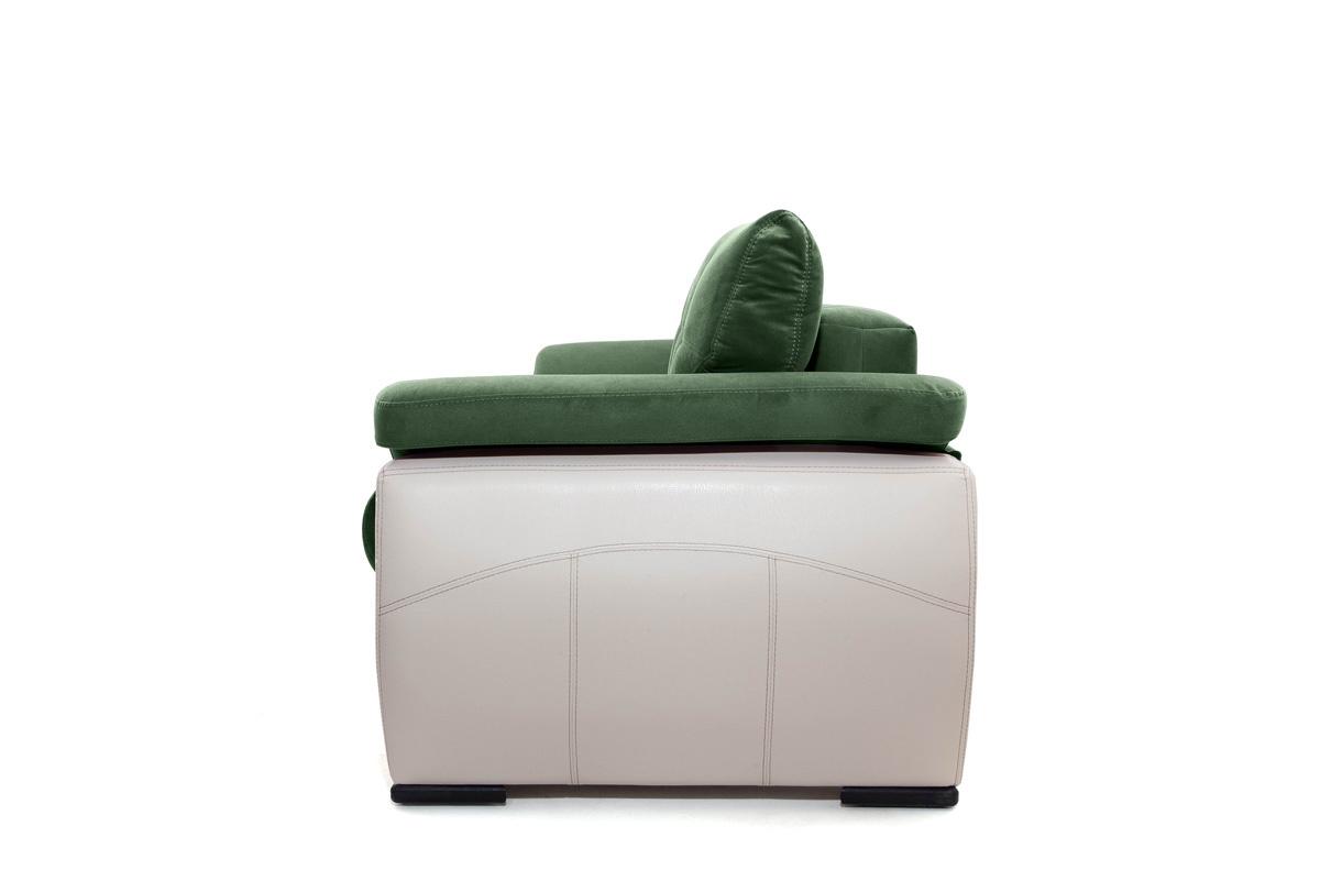 Двуспальный диван Соренто Amigo Green + Sontex Beige Вид сбоку