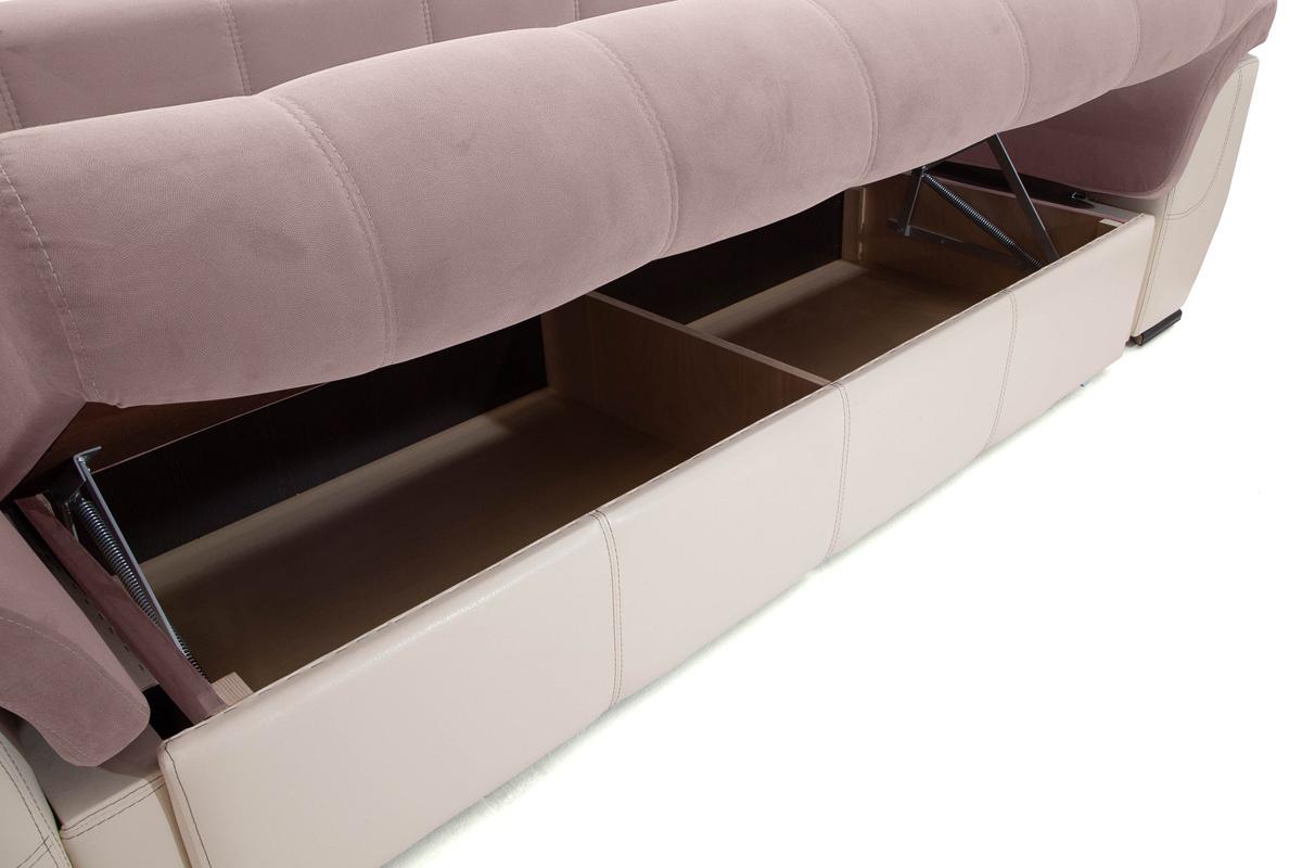 Прямой диван Соренто Amigo Java + Sontex Beige Ящик для белья
