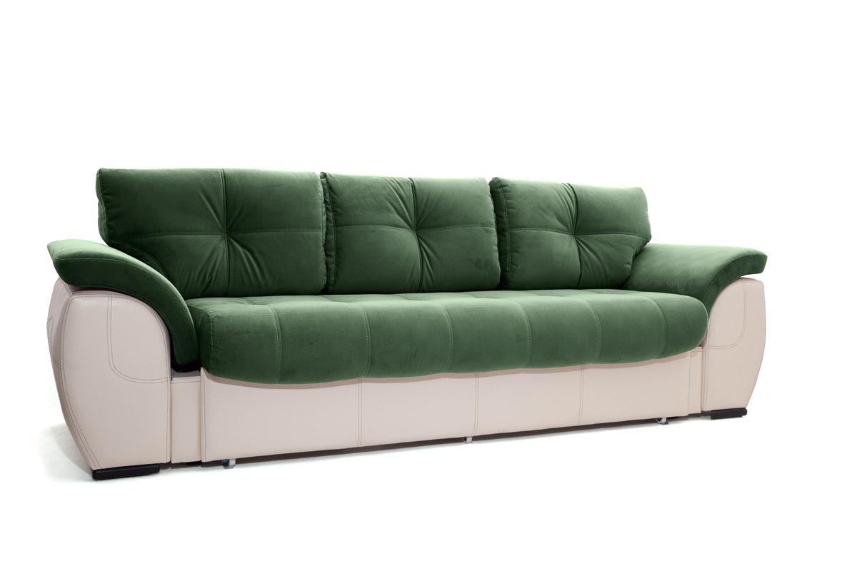 Двуспальный диван Соренто Amigo Green + Sontex Beige Вид по диагонали