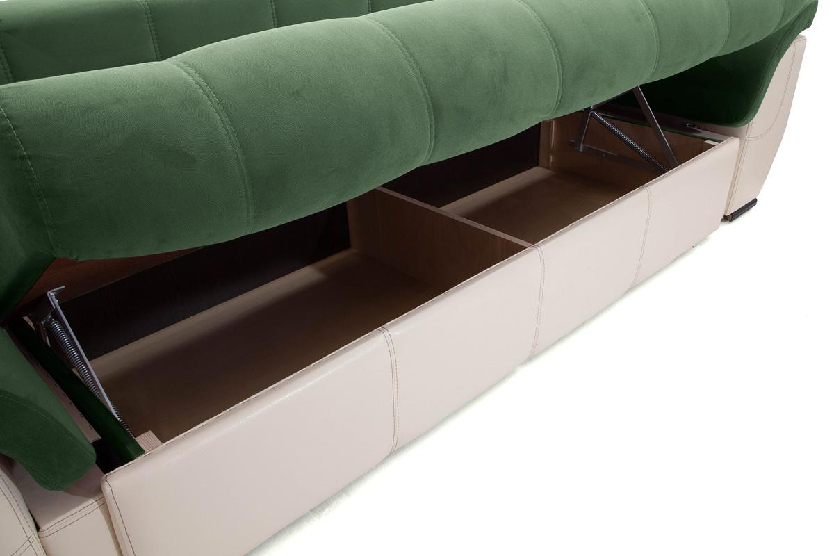 Двуспальный диван Соренто Amigo Green + Sontex Beige Ящик для белья